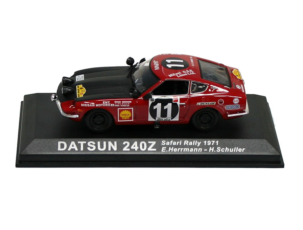 Altaya | M 1:43 | DATSUN 240Z  #11 - E.Herrmann / H.Shuller - Safari Rally (1971)