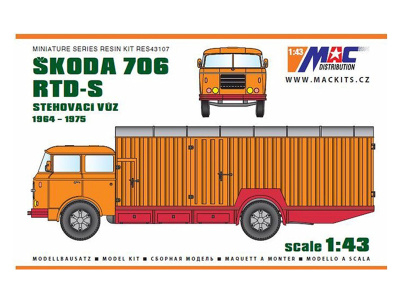 MACmodel CZ | M 1:43 | ŠKODA 706 RTD-S - Sťahovací voz (1964-1975)