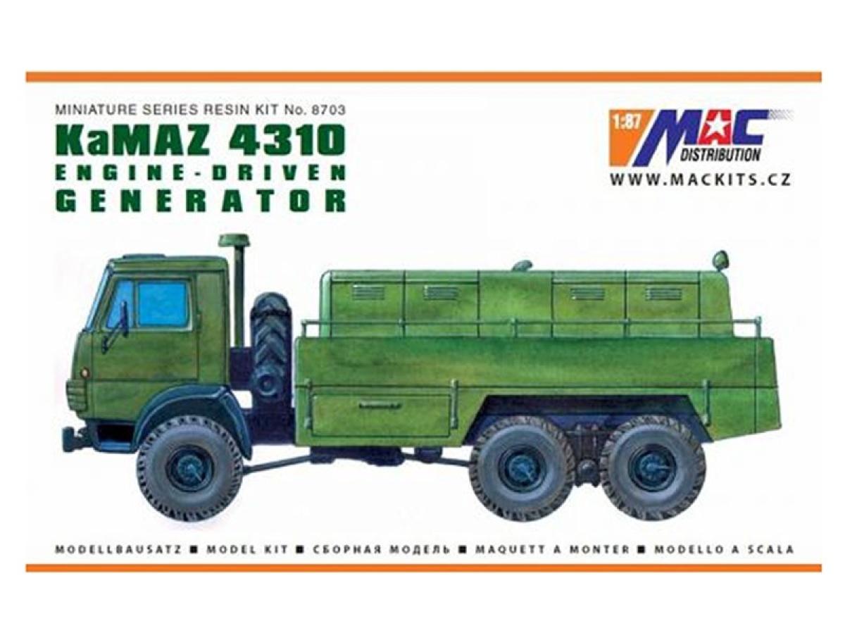 MACmodel CZ | M 1:87 | KamAZ 4310 6x6 - Generátor