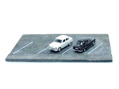 Carmodels SK | M 1:43 | Podstavec - parkovisko - kamenná dlažba
