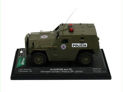 Carmodels SK   M 1:43   ALIGÁTOR 4x4 PC - Obrnené vozidlo / Polícia SR (2010)