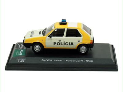 Abrex CZ   M 1:43   ŠKODA Favorit 135L - Polícia ČSFR (1990)