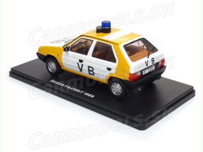 Carmodels SK / Modimio c.   M 1:24   ŠKODA Favorit 135L - Verejná bezpečnosť ČSSR (1989)