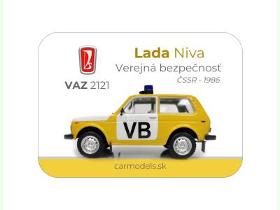 Carmodels SK |  | MAGNETKA VAZ 2121- Lada Niva - VB ČSSR (1986)