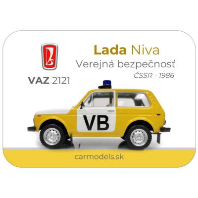MAGNETKA VAZ 2121- Lada Niva - VB ČSSR (1986)