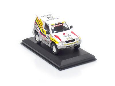 Altaya | M 1:43 | MITSUBISHI Pajero 4x4 #206 - J.-P.Fontenay /G.Picard - Rally Paris Dakar (1998)