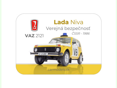 Carmodels SK |  | MAGNETKA VAZ 2121 Lada Niva - VB ČSSR (1986)