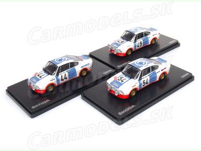 Abrex CZ | M 1:43 | ŠKODA 130 RS - Rally Monte Carlo 1977 / # 44 / # 49 / # 54