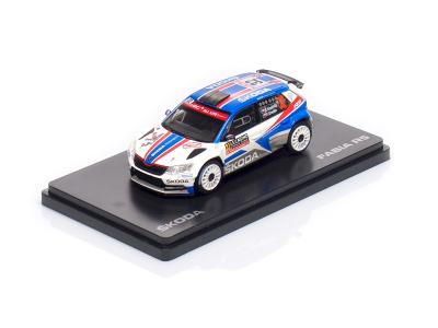 Abrex CZ | M 1:43 | ŠKODA Fabia III R5 (2015) #32 - Kopecký / Dresler - Rallye Monte-Carlo ( 2018 )