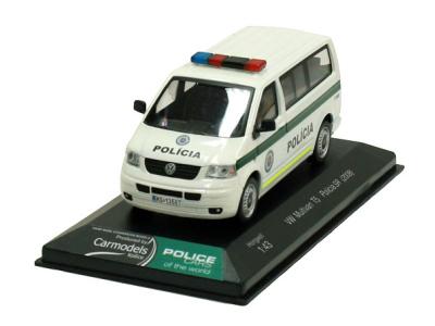 Cararama / Hongwell   M 1:43   VW Transporter T5 Multivan - Polícia SR (2008)