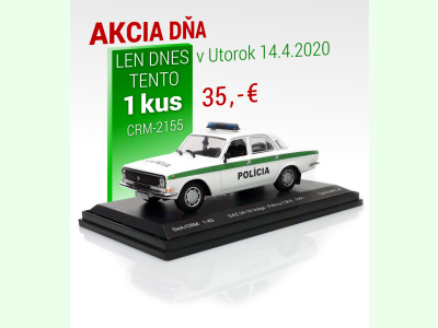 Carmodels SK / DeA | M 1:43 | GAZ 24-10 Volga - Polícia ČSFR (1991)
