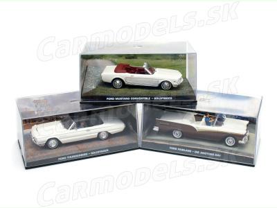 Eaglemoss Publications | M 1:43 | 3x FORD Thundrebird - FORD Mustang - FORD Fairlane - Jams Bond Series