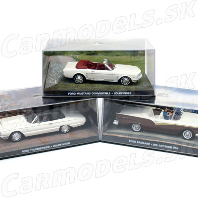 3x FORD Thundrebird - FORD Mustang - FORD Fairlane - Jams Bond Series