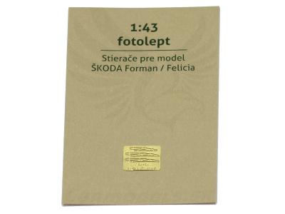 Carmodels SK | M 1:43 | Fotolept - Stierače pre modely Škoda Favorit, Felicia