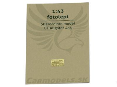 Carmodels SK | M 1:43 | Fotolept - Stierače pre model OT Aligátor 4x4