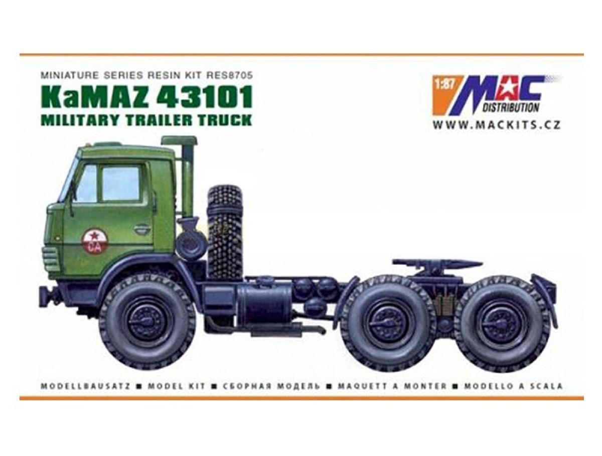 MACmodel CZ | M 1:87 | KamAZ 43101 6x6 - Sedlový ťahač