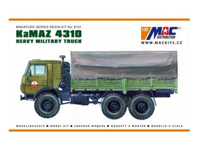 MACmodel CZ   M 1:87   KamAZ 4310 6x6 - Valník s plachtou